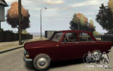 AZLK 412 Moskvich para GTA 4 esquerda vista