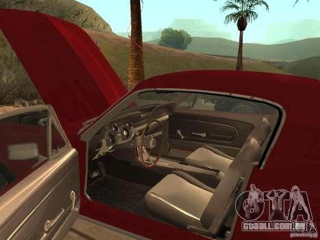 Ford Mustang 67 Custom para GTA San Andreas vista traseira