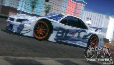 Nissan Skyline Touring R34 Blitz para vista lateral GTA San Andreas