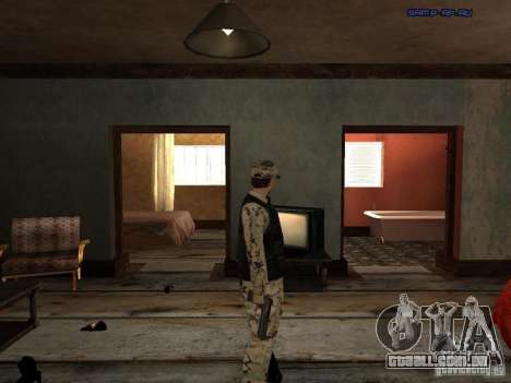 Army Soldier Skin para GTA San Andreas quinto tela