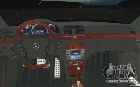 Mercedes-Benz S-Klasse para GTA San Andreas vista superior