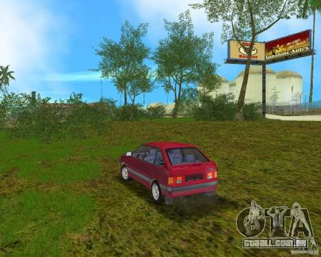 Lada Samara para GTA Vice City vista traseira esquerda