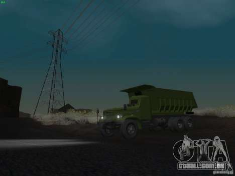 KrAZ-256b1-030 para GTA San Andreas vista inferior