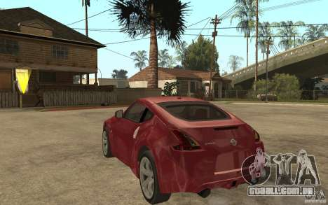 Nissan 370Z 2010 para GTA San Andreas traseira esquerda vista