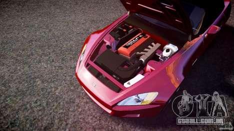 Honda S2000 2002 v2 para recozimento para GTA 4 vista inferior