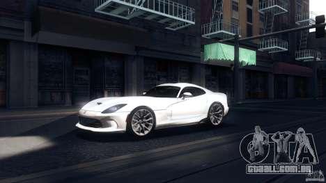 Dodge SRT Viper GTS 2012 V1.0 para GTA San Andreas esquerda vista
