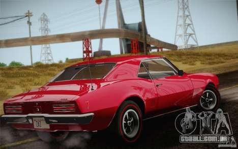 Pontiac Firebird 400 (2337) 1968 para GTA San Andreas vista inferior