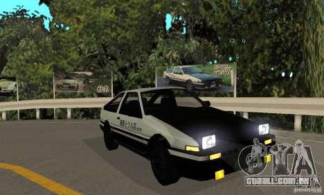 Toyota Sprinter Trueno GT-APEX AE86 83 Initial D para GTA San Andreas esquerda vista