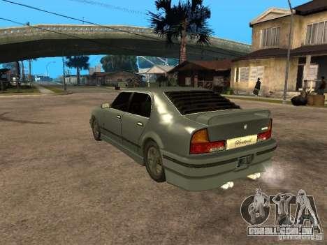 HD Mafia Sentinel para GTA San Andreas esquerda vista