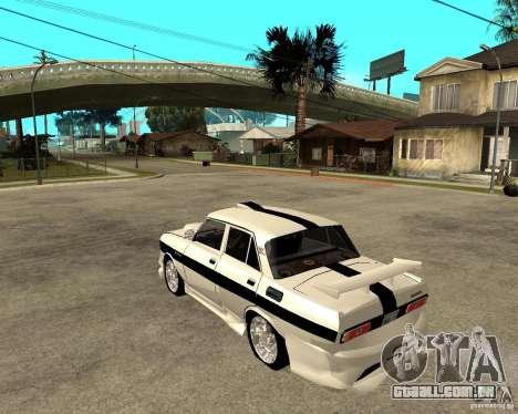 AZLK 2140 no subsolo para GTA San Andreas esquerda vista