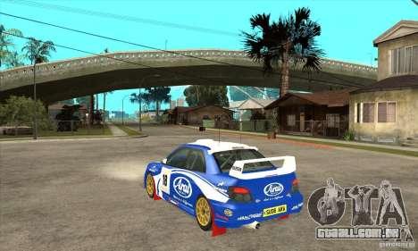 Subaru Impreza STi WRC wht1 para GTA San Andreas vista direita