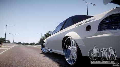 Sultan RS 3.0 para GTA 4 traseira esquerda vista