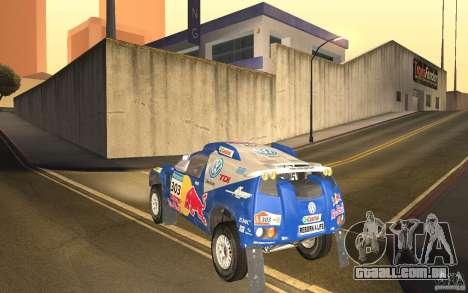 Volkswagen Race Touareg para GTA San Andreas traseira esquerda vista
