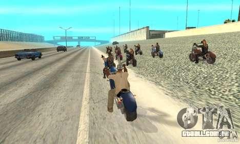 BikersInSa (os motociclistas em SAN ANDREAS) para GTA San Andreas