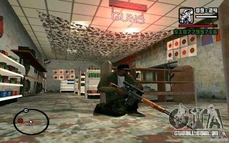 Dragunov sniper rifle v 1.0 para GTA San Andreas terceira tela