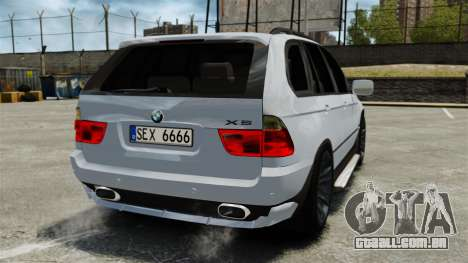 BMW X5 4.8IS BAKU para GTA 4 traseira esquerda vista