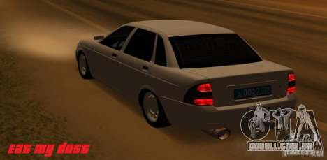 Lada Priora Light Tuning para GTA San Andreas esquerda vista