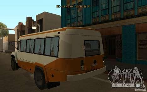 Kavz 3976 KAVZOZIL para GTA San Andreas traseira esquerda vista