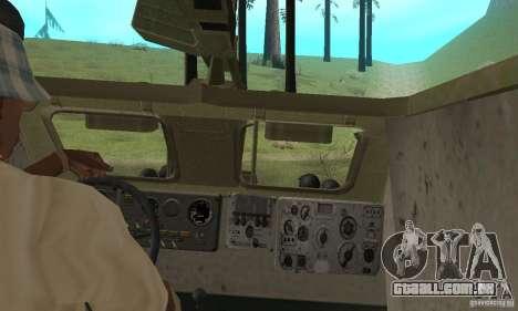 BRDM-1 pele 2 para GTA San Andreas vista interior