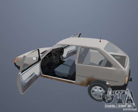 ZAZ Tavria 1102 para GTA San Andreas vista superior