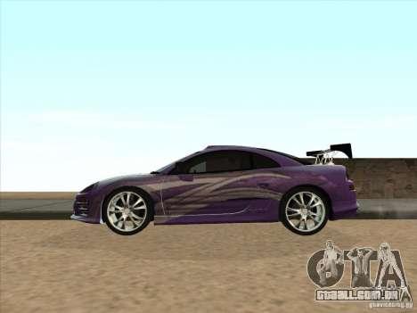 Mitsubishi Eclipse Spyder 2FAST2FURIOUS para GTA San Andreas esquerda vista