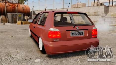 Volkswagen Golf MK3 Turbo para GTA 4 traseira esquerda vista