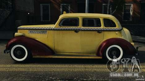 Shubert Taxi para GTA 4 esquerda vista