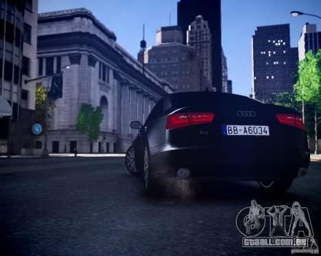 Audi A6 2012 para GTA 4 vista de volta