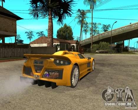 Gumpert Appolo para GTA San Andreas traseira esquerda vista