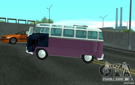 Volkswagen Transporter T1 SAMBAQ CAMPERVAN para o motor de GTA San Andreas