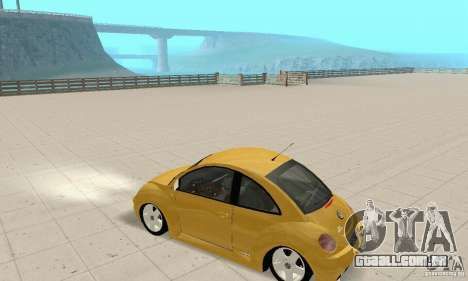 Volkswagen New Beetle GTi 1.8 Turbo para GTA San Andreas vista traseira