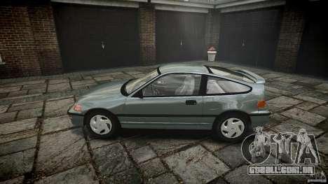 Honda CRX 1991 para GTA 4 esquerda vista