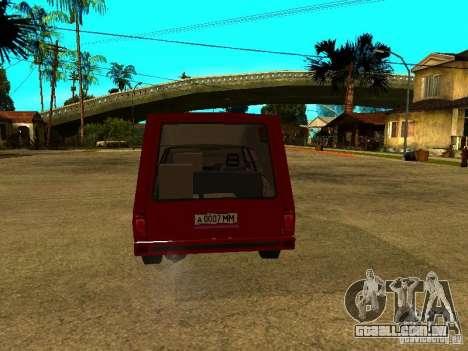 AZLK 2901 para GTA San Andreas vista direita