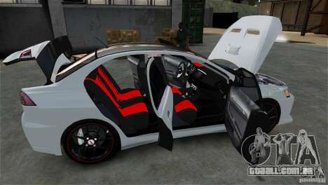 Mitsubishi Lancer Evo X para GTA 4 vista lateral