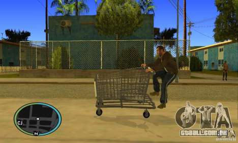 Shopping Cart Faggio V2 para GTA San Andreas vista direita