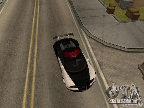 Bugatti Veyron Police para GTA San Andreas traseira esquerda vista