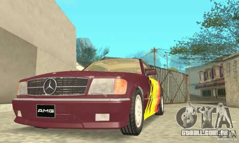 Mercedes-Benz W126 560SEC para as rodas de GTA San Andreas