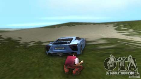 Lexus LFA para GTA Vice City deixou vista