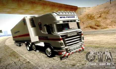 Scania R620 Emercom da Rússia para GTA San Andreas vista superior
