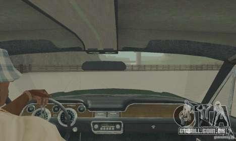 Ford Mustang Bullitt 1968 v.2 para GTA San Andreas vista traseira