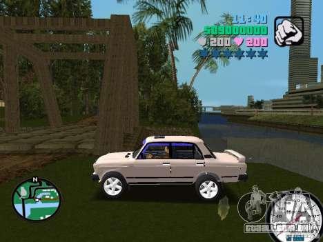 VAZ 2107 para GTA Vice City deixou vista