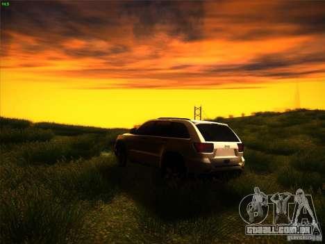 Jeep Grand Cherokee 2012 v2.0 para GTA San Andreas traseira esquerda vista