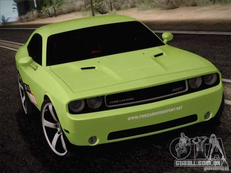 Dodge Challenger SRT8 2010 para GTA San Andreas esquerda vista