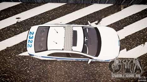 Honda Accord Type R NYPD (City Patrol 2322) ELS para GTA 4 vista direita