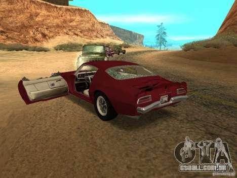 Pontiac Firebird 1970 para vista lateral GTA San Andreas