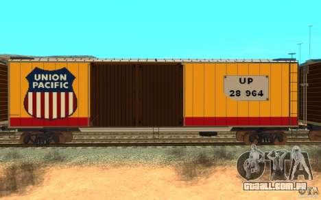 Union Pacific Reefer para GTA San Andreas traseira esquerda vista