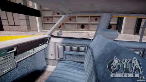 Chevrolet Impala Taxi 1983 [Final] para GTA 4 vista interior