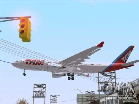 Airbus A330-223 TAM Airlines para GTA San Andreas vista traseira