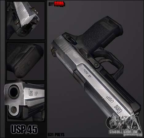 USP.45 Chrome para GTA San Andreas
