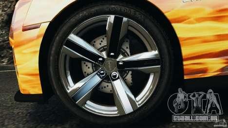 Chevrolet Camaro ZL1 2012 v1.0 Flames para GTA 4 vista inferior
